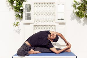 Parivrtta Janu Sirasana (Revolved head to knee pose), Yoga for hamstrings, yoga for the back, yoga spinal twist
