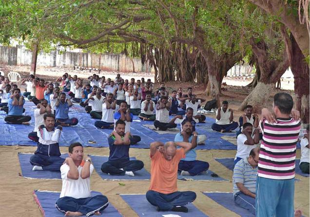 yoga, total yoga, ugc, world yoga day, rajasthan police, yoga for charity