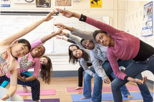 Urban Yogis brings yoga to the youth in the projects.