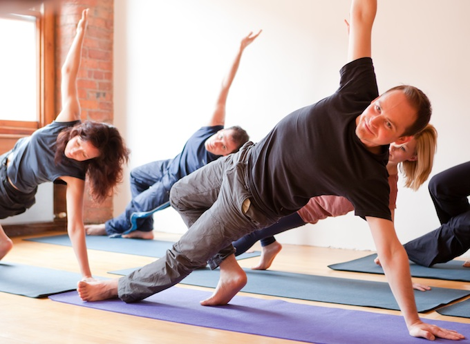 yoga, total yoga, yoga men, men in yoga class,