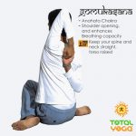Gomukasana, Cow face pose, opens shoulders, increased lung capacity, yoga for relaxation. de-stressing pose