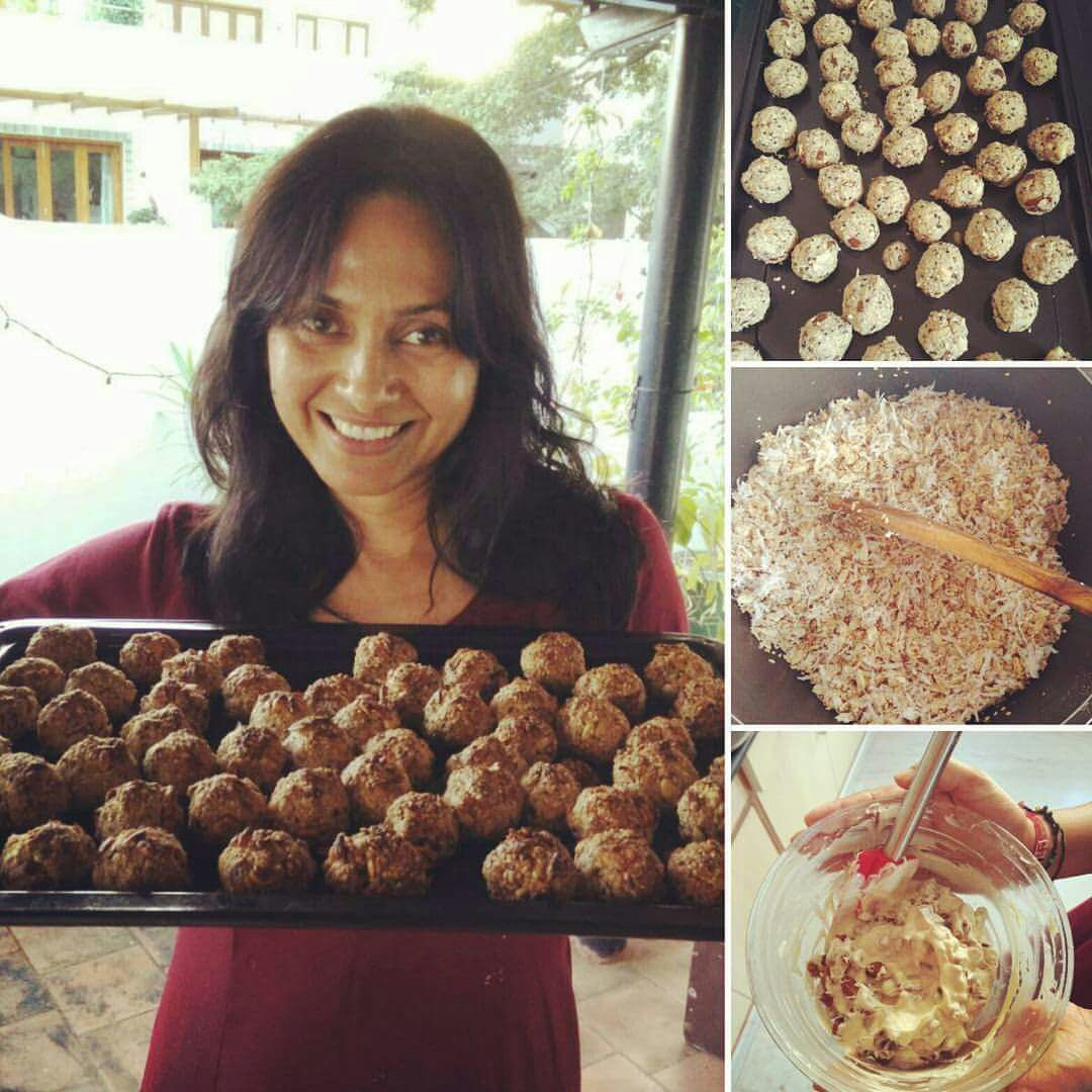 healthy sweet recipe, baked ladoo, festive time sweets