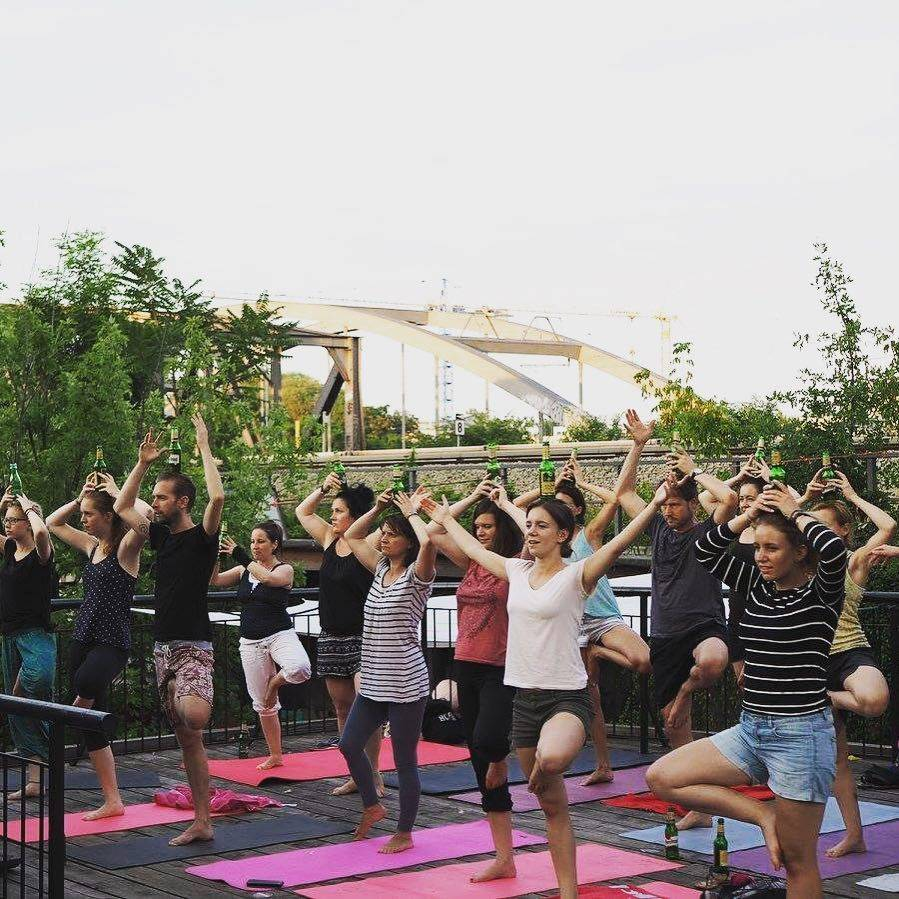 yoga trends fads, new fitness means, creative ideas