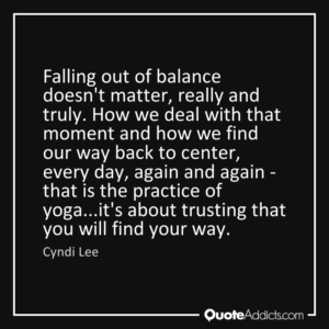 Top Yoga Quotes On Balance